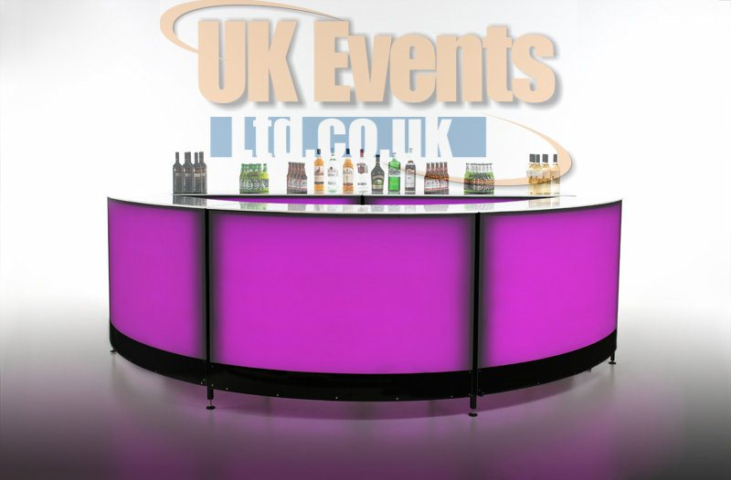 LED circular round circular cocktail illuminated bar for hire