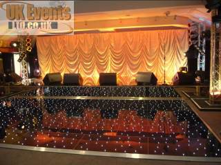 Black corporate disco and flooring package