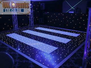 black and white striped starlit plight dance floor