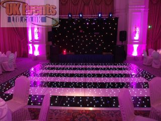 Hire A Dancefloor Starlit Led Black And White