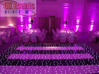 hot pink LED floor