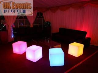 Colour changing Cubes for rental