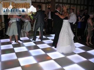 LED illuminated dance floor