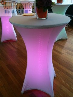 LED wireless posuer table hire
