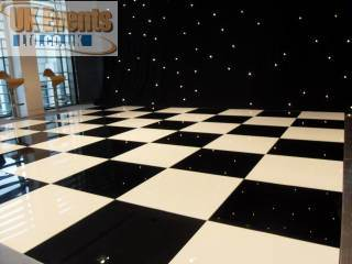 black and white chequered dance floor